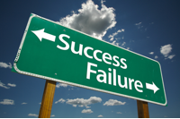 success-failure sign